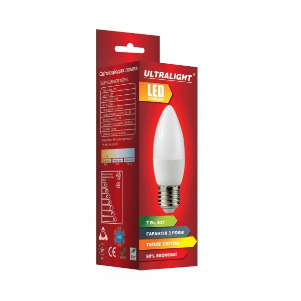 Светодиодная лампа C37-7W-Y-E27