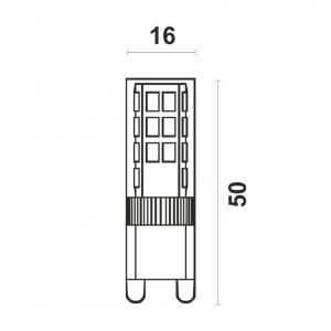 Светодиодная лампа G9-220V-3W-N