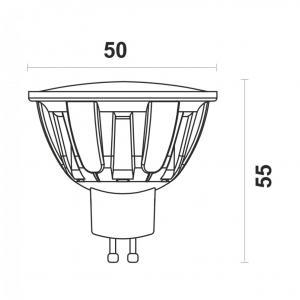 Светодиодная лампа MR16-6W-N GU10