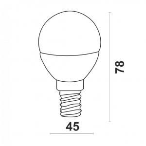 Светодиодная лампа P45-5W-Y-E14