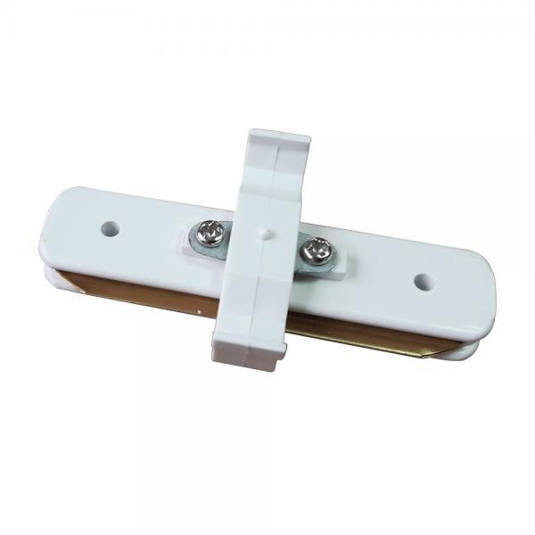 Коннектор однофазний линейный, белый
