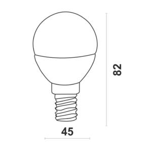 Светодиодная лампа Ultralight LED P45 6W N E14 ЕКО