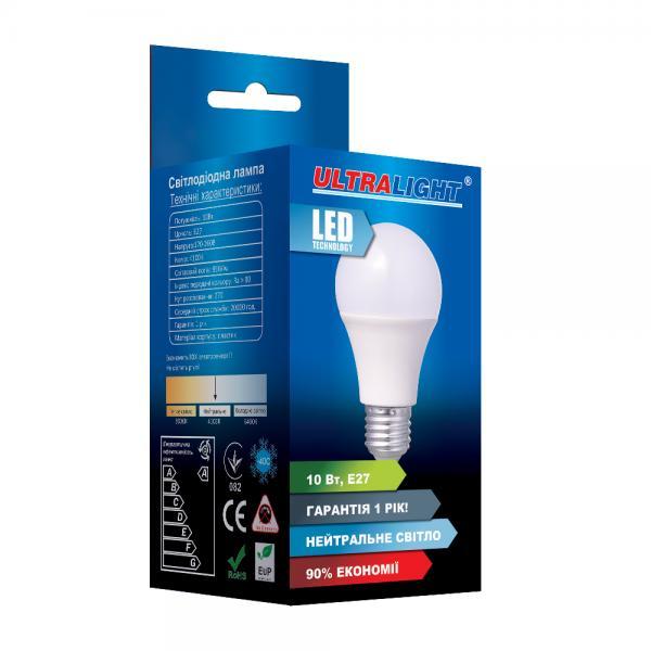Светодиодная лампа A60-10W-N-E27 ECO