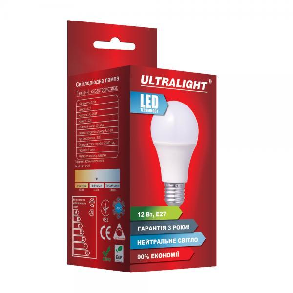Светодиодная лампа A60-12W-N-E27