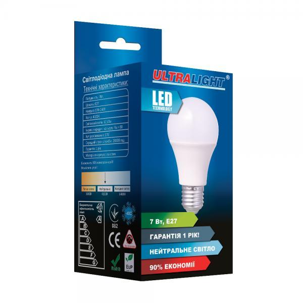 Светодиодная лампа A60-7W-N-E27 ECO