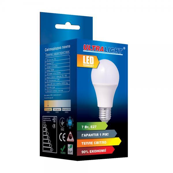 Светодиодная лампа A60-7W-Y-E27 ECO