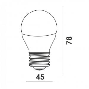 Светодиодная лампа G45-5W-Y-E27