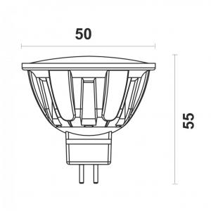 Светодиодная лампа MR16-6W-Y G5.3