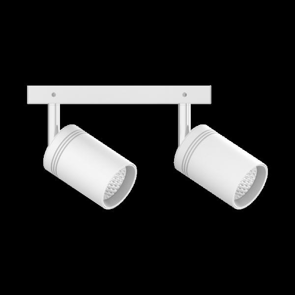 Трековый светильник TRL111 белый  (2х10Вт)
